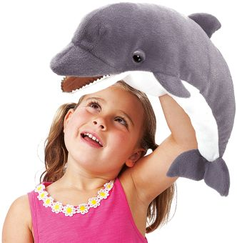 Folkmanis Handpuppe DELFIN #folkmanis #handpuppe #handspielpuppe #puppet #dolphin
