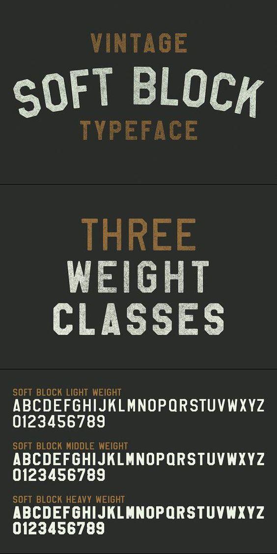 Soft Block Pro With Images Vintage Fonts Vintage Fonts Free