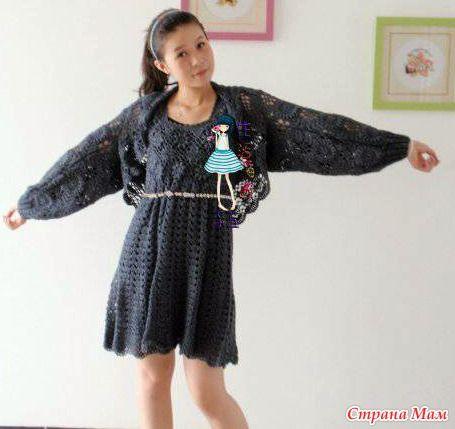 . Dress and bolero. - All in openwork ... (crochet) - Home Moms