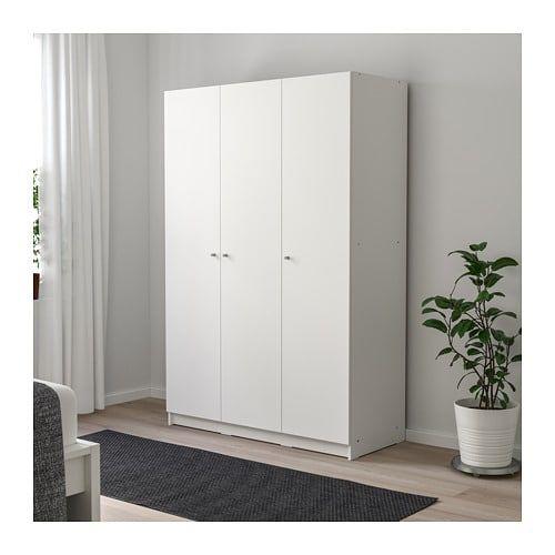 Bygstad Armoire Penderie Blanc Blanc 120x181 Cm Armoire Penderie Armoire Garcon Et Ikea