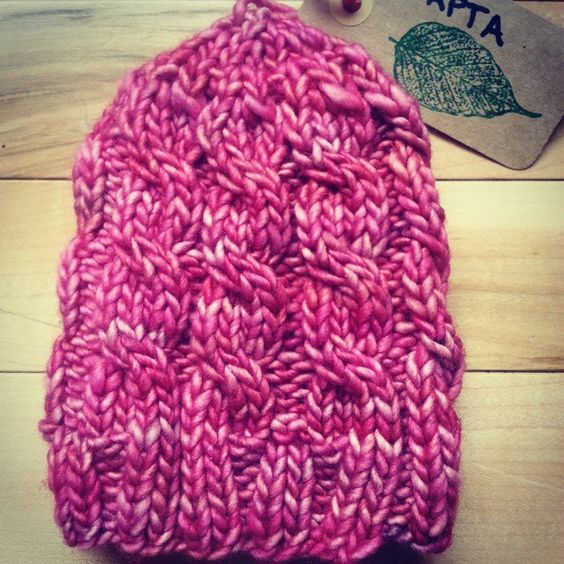 """Our newborn Borealis toque in pink. Available in newborn and infant sizes!  #waptaknittingco #yyc #calgary #etsy  #handmade"""