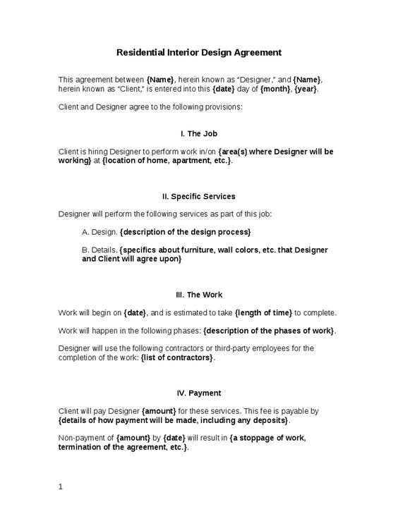 Interior Design Contract Template - Interior doors - interior ...