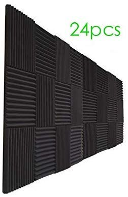 Amazon Com 24 Pack Acoustic Panels Soundproof Studio Foam For Walls Sound Absorbing Panels Sound Insula In 2020 Sound Insulation Wall Sound Insulation Acoustic Panels