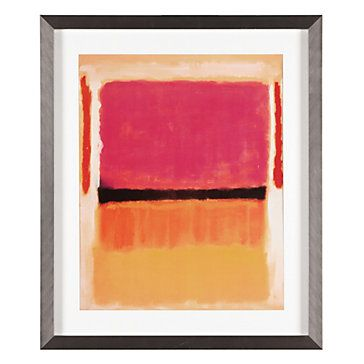 We love Rothko's technique of enhancing one intense color by placing it next to another equally brilliant. Black Orange Yellow, $169.95