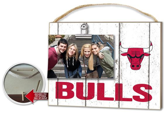 Chicago Bulls Clip It Weathered Logo Photo Frame