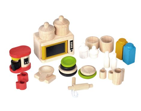 Buy PlanToys Dollhouse Accessories For Kitchen U0026 Tableware   The PlanToys  Dollhouse Accessories For Kitchen U0026 Tableware Is A Selection Of Different  Kinds Of ...