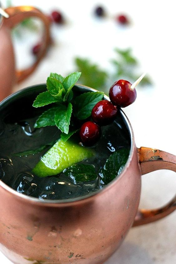 Make a cranberry mule tonight. Whether you're having a party or not, this'll make the night better!