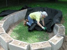 Backyard Turtle Pond Tutorial-- not really planning on putting any type of pond…