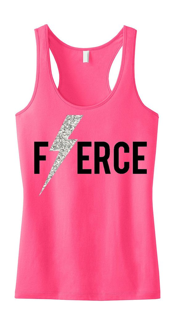 FIERCE Glitter Lightning #Workout #Tank Top by #NobullWomanApparel, for only $24.99! Click here to buy http://www.etsy.com/listing/189730744/fierce-glitter-lightning-workout-tank?ref=shop_home_active_8