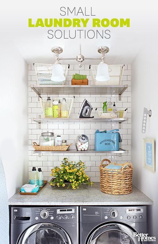 Small laundry room ideas pinterest pi ces de monnaie for Bureau qui ne prend pas de place