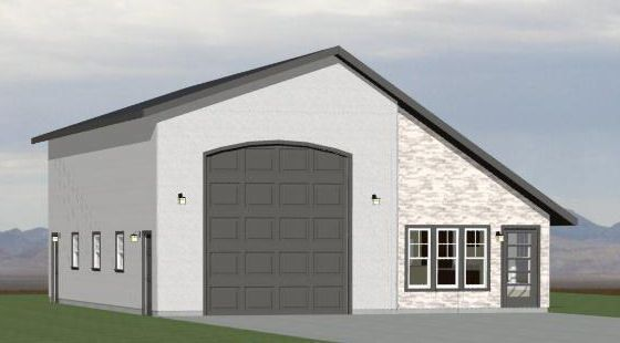 34x48 1 Rv Garage 1 Bedr 1 Bath 1 605 Sq Ft Pdf Floor Plan Model 1 Barn Homes Floor Plans Garage House Plans Garage Apartment Plans