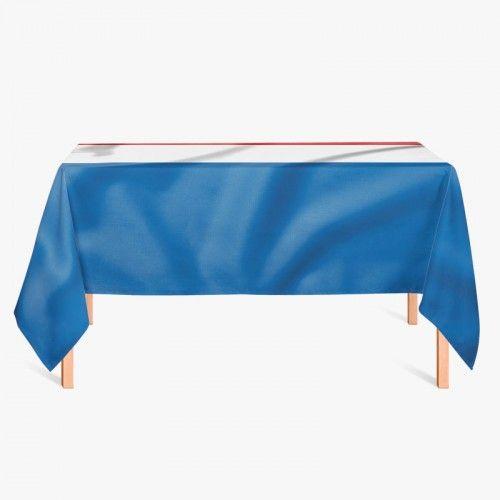 Tafelkleed Nederlandse vlag   Fleur je keuken op met dit weerbestendige tafelkleed bestaande uit geweven linnen met PVC.   #tafelkleed #keukentextiel #keuken #kleed #pvc #print #opdruk #tafel #weerbestendig #nederland #nederlandsevlag #vlag #holland #roodwitblauw