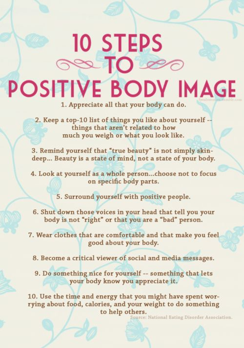 Take Note, Ladies: 10 Steps to a Positive Body Image :-)
