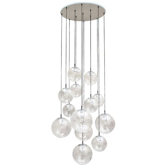 Impressive Extra Large Glass Ball Chandelier by RAAK Amsterdam