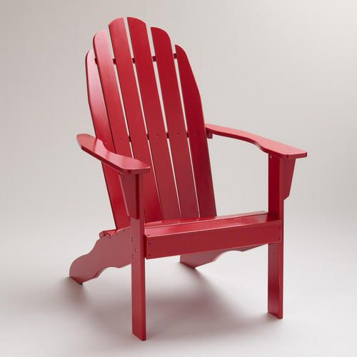 Cost Plus Chairs: Antique White Adirondack Chair