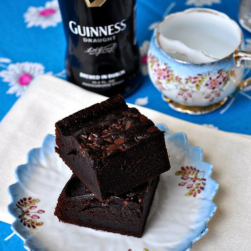 Guinness Stout Brownies - maybe I'll make them for my husband's next game night with his friends!