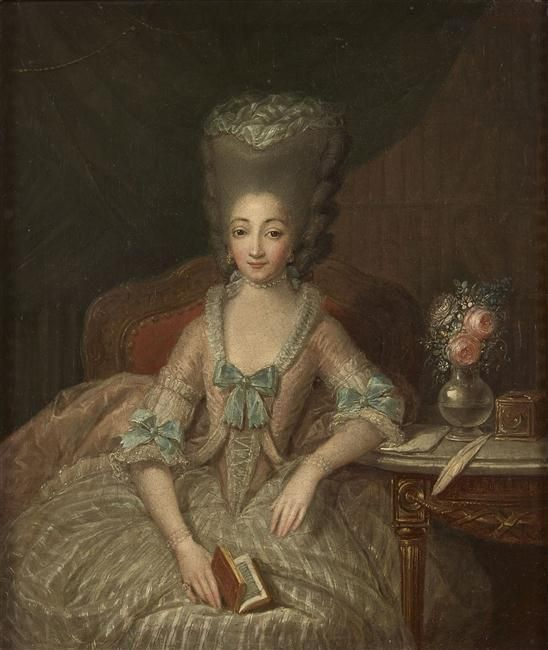 1775 Elisabeth de France by Charles Leclercq | 17th century fashion,  Century clothing, Marie antoinette