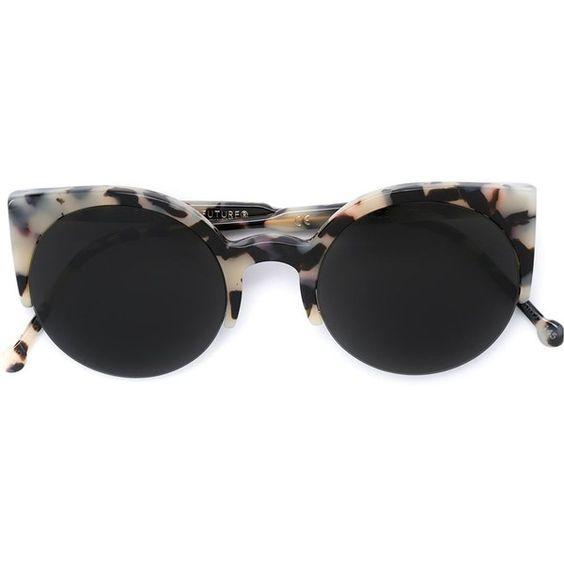 Retrosuperfuture 'Lucia Puma' sunglasses (205 CAD) ❤ liked on Polyvore featuring accessories, eyewear, sunglasses, black, retrosuperfuture glasses, retrosuperfuture and retrosuperfuture sunglasses