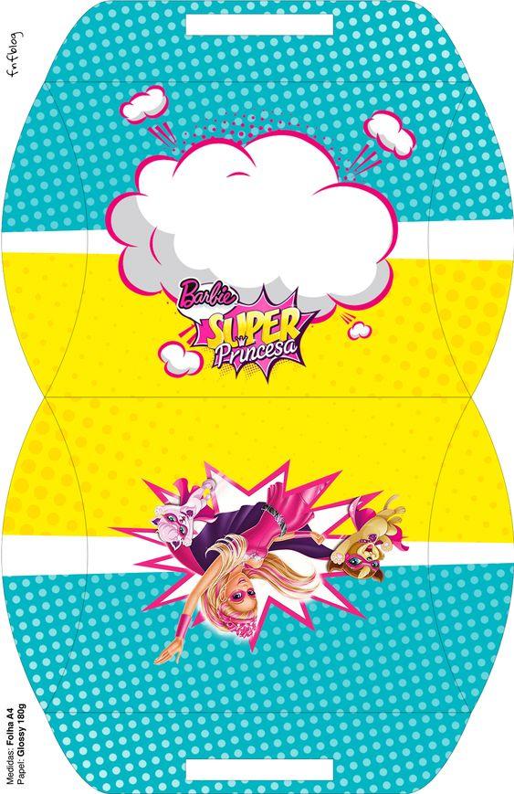 Maleta Barbie Super Princesa--- http://fazendoanossafesta.com.br/2015/07/barbie-super-princesa-kit-festa-infantil-gratis.html/