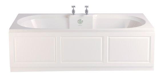 Dorchester Double Ended 2 Taphole Bath 1800x800 White | Baths | Heritage