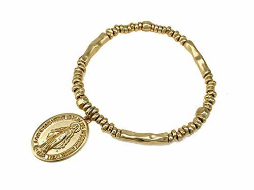 4031660 Blessed Virgin Mary Stretch Bracelet Saint St Pray For Us Catholic Religious, http://www.amazon.com/dp/B00YSHH914/ref=cm_sw_r_pi_awdm_gh58vb05QT20P