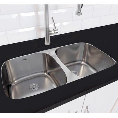 Ancona Capri Series Stainless Steel 32 3 X 32 23 50 50 Double