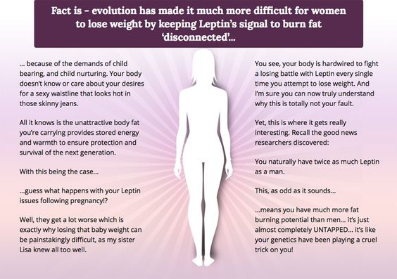 Here some really interesting facts about leptin and women. http://reviewworkoutprograms.com/venus-factor-review