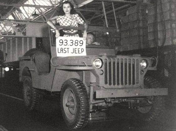 Last GPW jeep produced by Ford at one of its                   plants during World War II, 1945…
