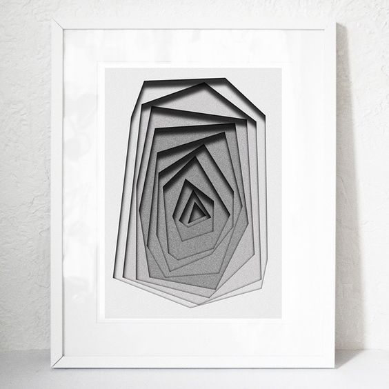 Today I finished this 3d effect illustration and it is now on Etsy :) Every illustration is printed on 300g archival quality paper with archival pigment inks. BoldB.etsy.com  #boldb #print #3dillustration #3d #art #pigmentink #illustrated #geometric #bw