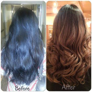 Medium length balayage highlights by Annie | Yelp