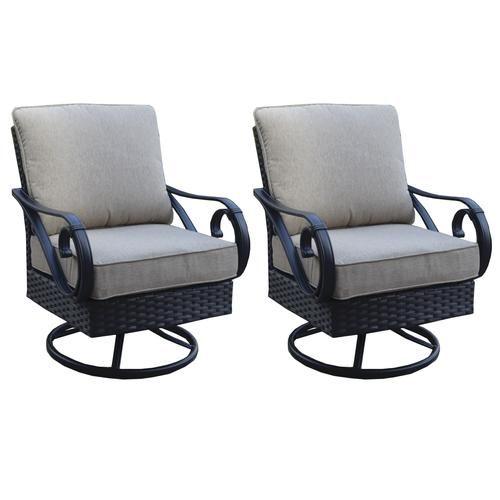 Backyard Creations Boulder Creek Club Rocker Patio Chair 2 Pack Patio Lounge Furniture Patio Chairs