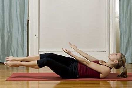 Yoga for great abs health magazine the floor and yoga moves for Floor yoga stretches