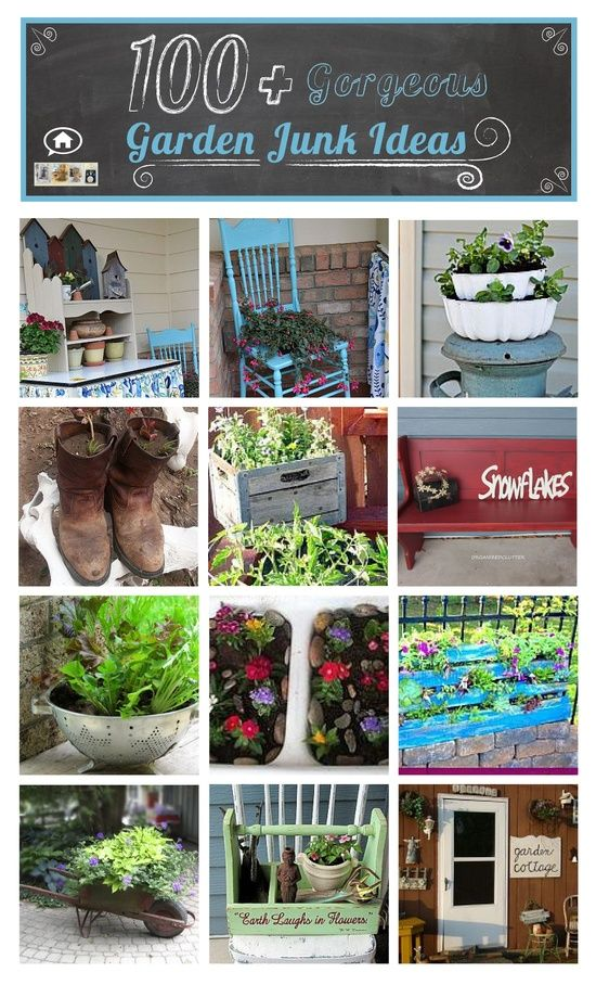 Diy 100 gorgeous garden junk projects flea market for Upcycled garden projects from junk