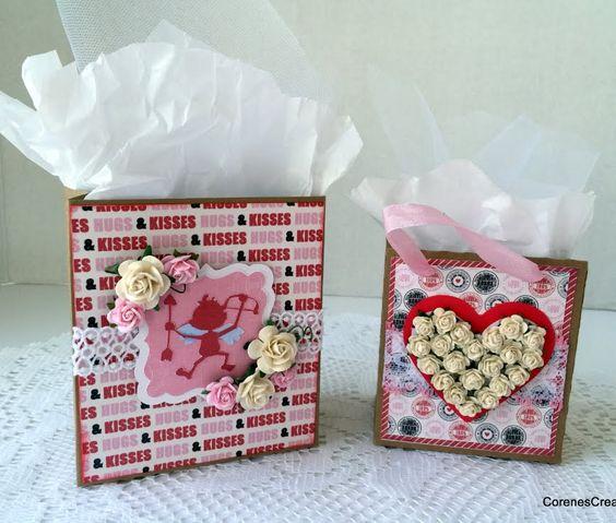 Valentine Treat Bags ~ Wild Orchid Crafts