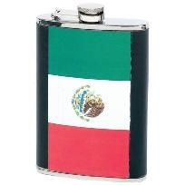Maxam�� 8oz Stainless Steel Flask with Mexican Flag Wrap $6.99