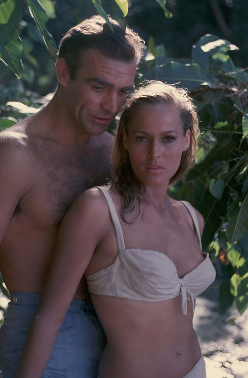 Sean Connery and Ursula Andress in'Dr. No', 1962.