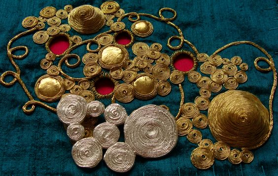 Goldwork Silver Pendant by Grace Sheldrick