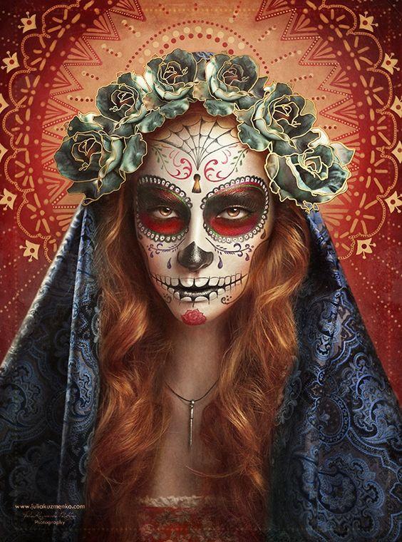 How would you get this Dia de los Muertos look?: