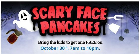 FREE Scary Face Pancake at IHOP - Tomorrow Only!