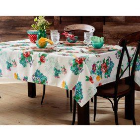 The Pioneer Woman 52 X 70 Willow Tablecloth Walmart Com In 2021 Pioneer Woman Kitchen Decor Pioneer Woman Kitchen Pioneer Woman Dishes