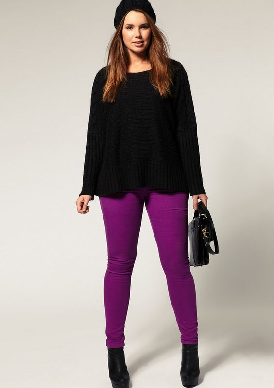 ASOS Curve Purple Skinny Jean | Purple jeans Purple and Plus size