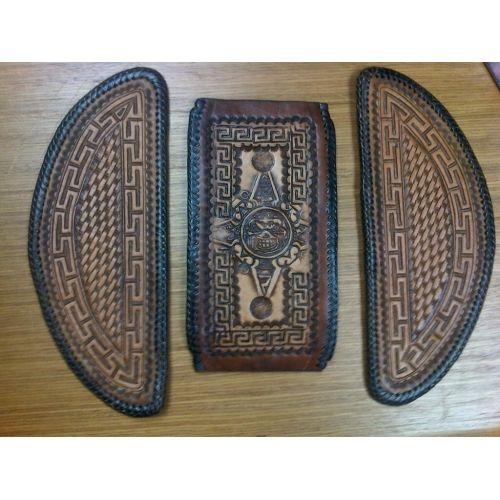 Convict Custom Cycles Floorboard Inserts Brown w/ Greca ...