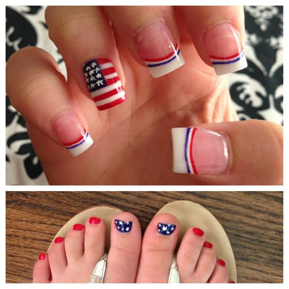 My Fourth of July nails 2013: