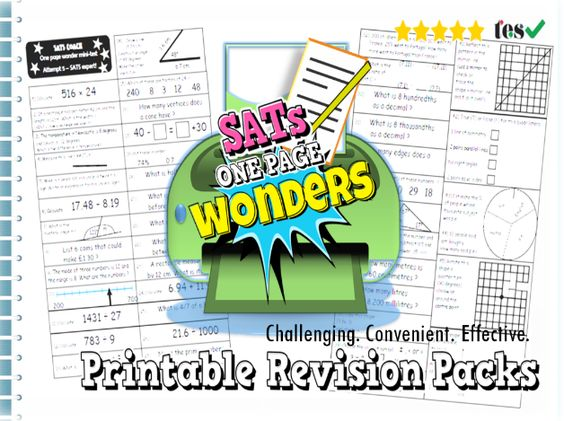 Sats Revision Practice Pack Ks2 Maths One Page Wonder Teaching Resources Learn Basic Math Basic Math Skills Learning Math