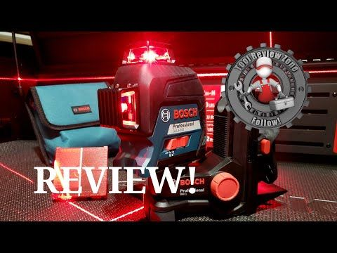 Bosch Gll3 300 200 Ft Laser Level Review With Bm 1 Positioning Device Bosch Boschtools Tools Youtube Bosch Laser Levels Bosch Tools