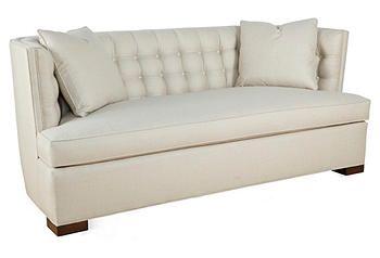 "Booker 80"" Tufted-Back Sofa"