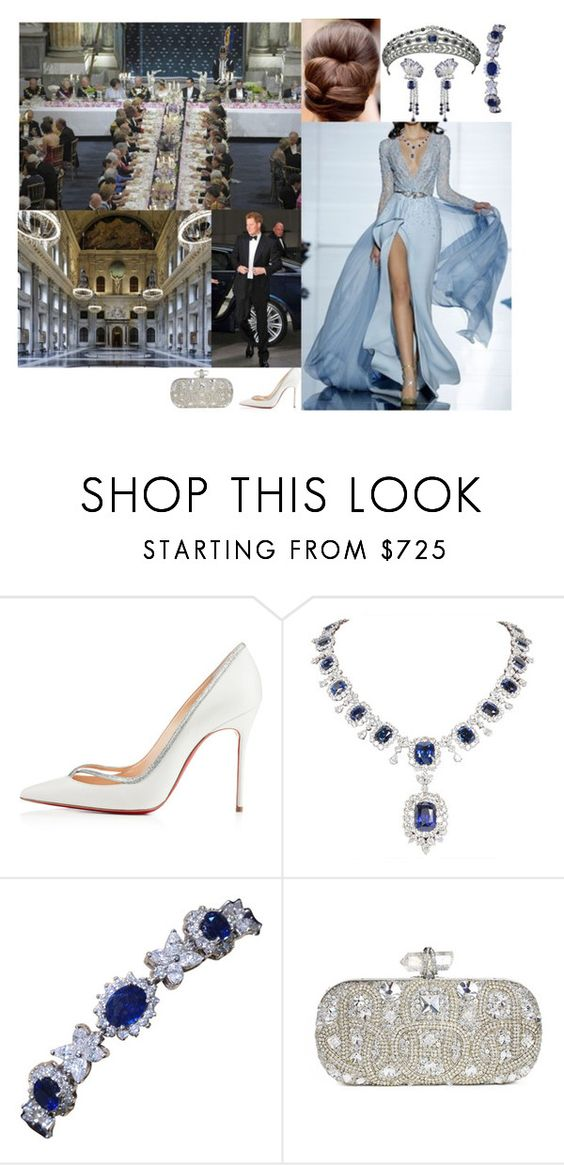"""attending The wedding reception of HRH Princess Sophia and Jasper Weatherley"" by annaschoko007 ❤ liked on Polyvore featuring Reception, Christian Louboutin, Zuhair Murad and Marchesa"