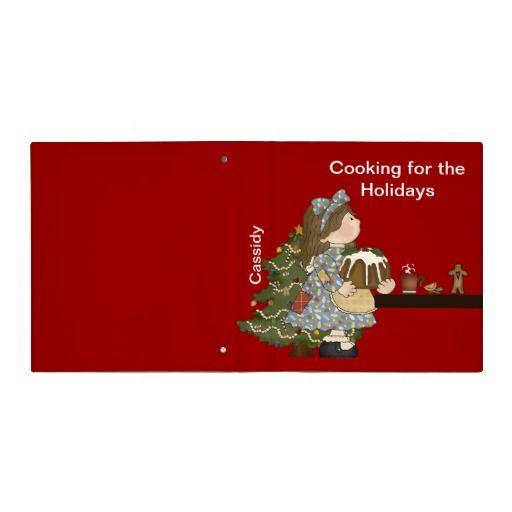 Holiday Childrens Cookbook Binder