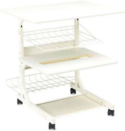 Amazon.com: BALT 21701 Adjustable Printer Stand with Printout Basket, 24w x 29d x 29h, Gray: Home & Kitchen