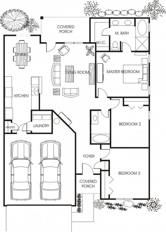Minimalist Small House Floor Plans For Apartment: Beautiful Small